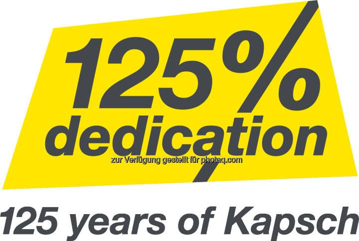 Das Logo zum 125. Jubiläum von Kapsch. ©Kapsch Group