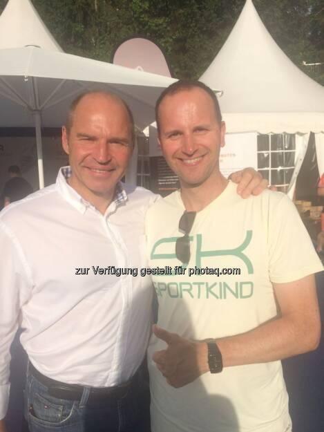 Mit dem 4-fachen Ski-Weltmeister, 2-fachen Olympia Silber Medaillen Gewinner und als Bemer Sport Botschafter Marc Giradelli beim ATP Generali Open in Kitzbühel (08.08.2017)