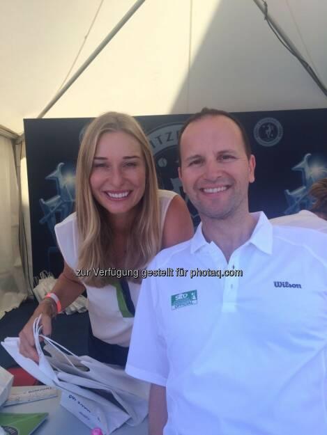 Die bezaubernde Tirolerin -> Ex-Fed Cup Spielerin und Eurosport Moderatorin Babsi Schett und ich am Babsi Schett Ladies Days beim ATP Generali Open in Kitzbühel   (08.08.2017)