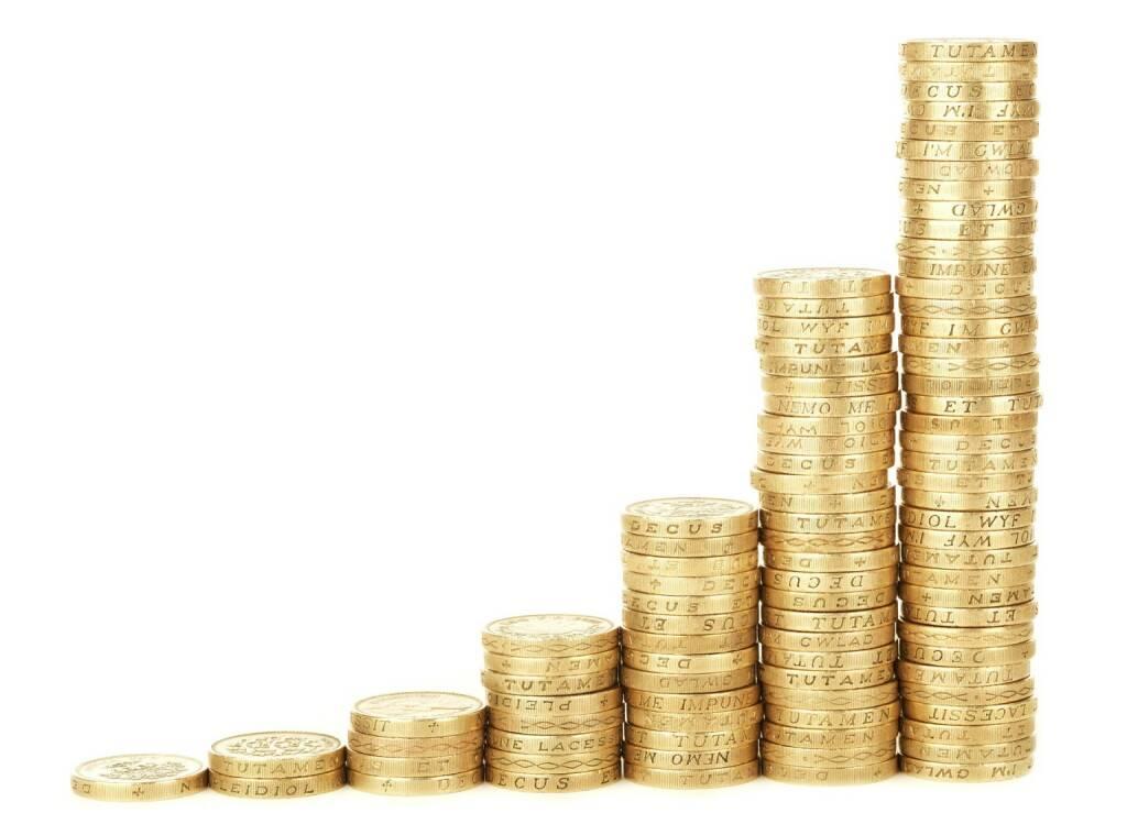 Ziel, Geld, Wachstum, Reich, reicher, zulegen, Zulage, Münze, Münzen (Bild: Pixabay/PublicDomainPictures https://pixabay.com/de/leistung-bar-geschäft-diagramm-18134/ ) (10.08.2017)