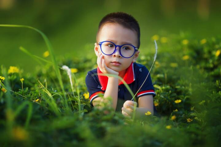 Kind, Kinder, nachdenken, Natur, Wiese, Gras, Grün (Bild: Pixabay/lichdinhtb https://pixabay.com/de/kinder-baby-der-sohn-liebe-1508121/ )