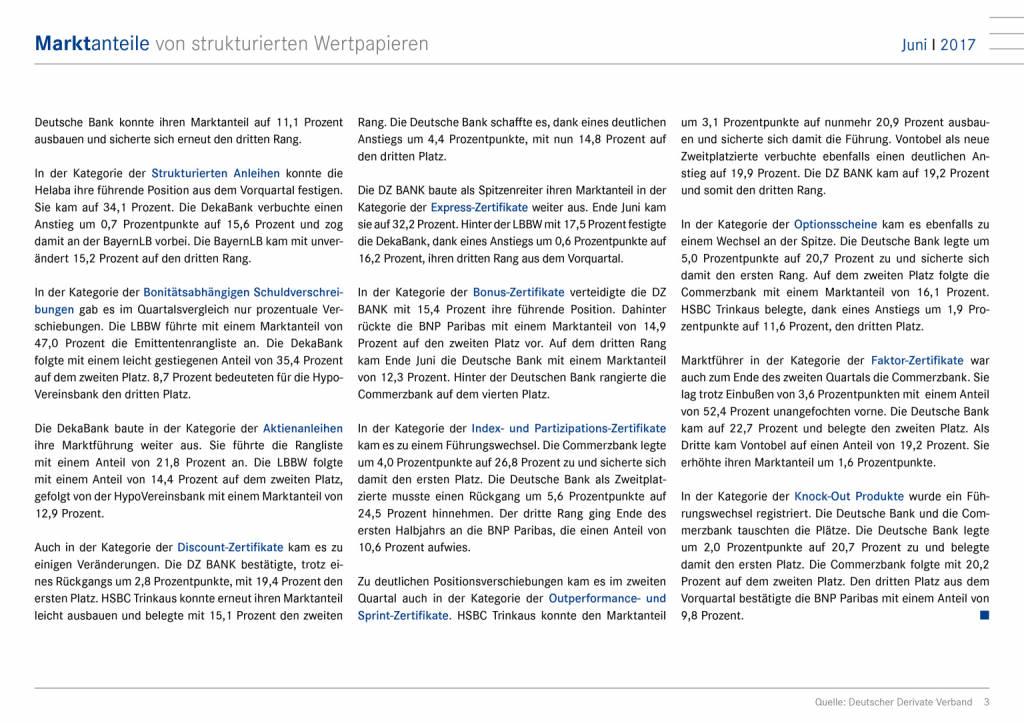 Juni 2017: Marktanteile von strukturierten Wertpapieren in Deutschland, Seite 3/8, komplettes Dokument unter http://boerse-social.com/static/uploads/file_2310_juni_2017_marktanteile_von_strukturierten_wertpapieren_in_deutschland.pdf