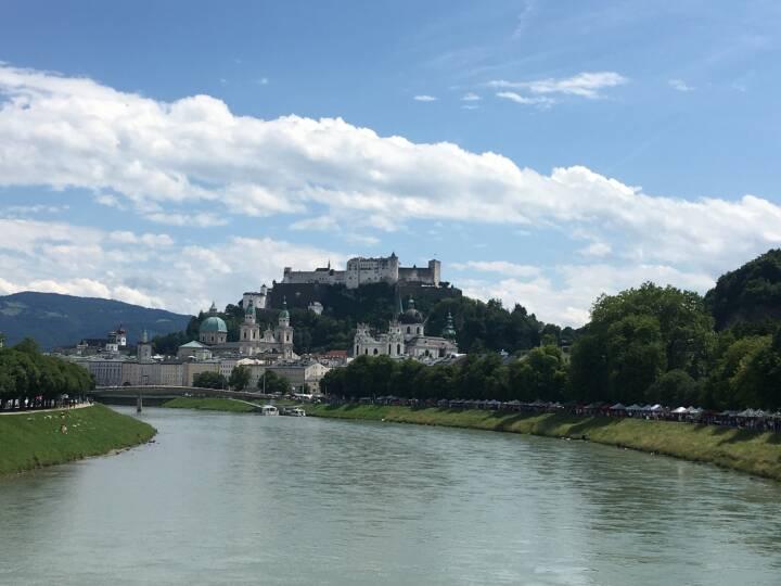 Salzburg, Festung Hohensalzburg, Salzach