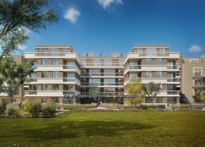 Semper Constantia-Immoprojekt: MAX.LIVING, Innenhofansicht © Schneider+Schumacher Architekten ZT GmbH