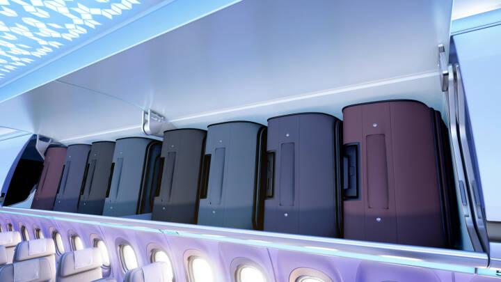 """FACC ist Technologiepartner von Airbus in der Entwicklung und Fertigung der Gepäckablagen und Deckenpaneele für die neue """"Airspace"""" Kabine der A320 Familie; Bild: Airbus"""