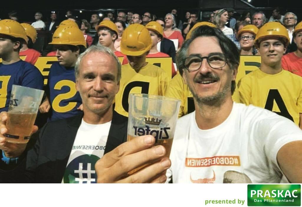 Christian Drastil, Josef Chladek #goboersewien mit viel Palfinger im Rücken (07.09.2017)