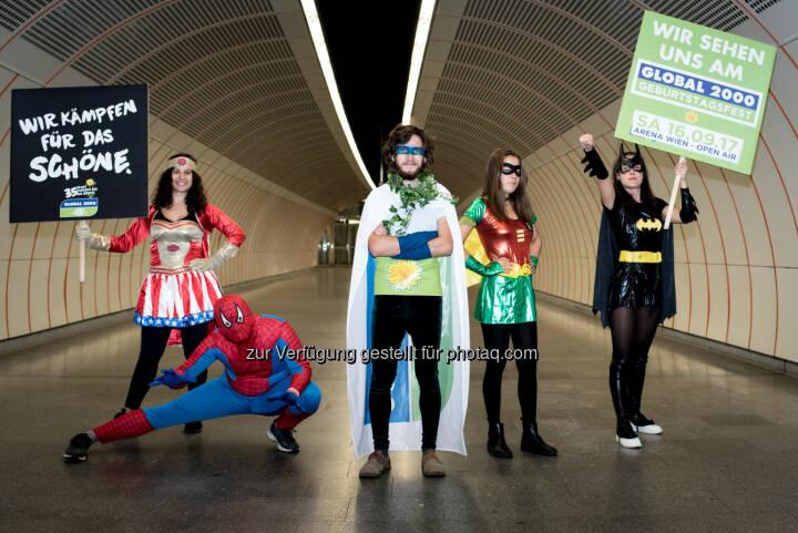 GLOBAL 2000: SuperheldInnen laden zum Umweltfestival in die Arena Wien (Fotograf: Christopher Glanzl / Fotocredit: GLOBAL 2000)