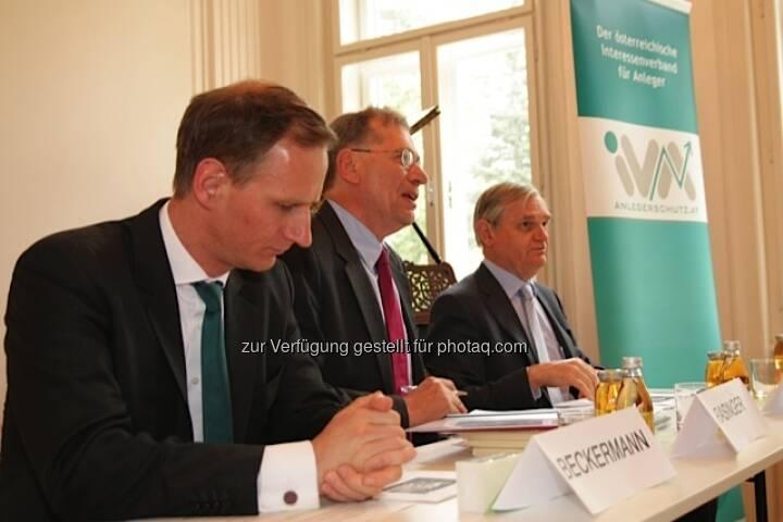 IVA-Vorstand v.l.n.r. Florian Beckermann, Wilhelm Rasinger, Michael Knap
