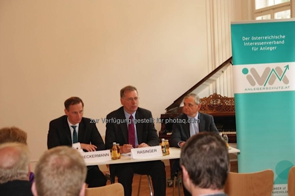 IVA-Vorstand v.l.n.r. Florian Beckermann, Wilhelm Rasinger, Michael Knap (25.05.2013)