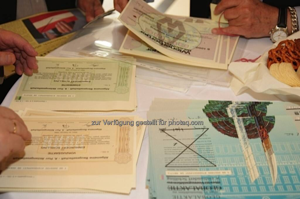Interesse an entwerteten Aktienurkunden (25.05.2013)