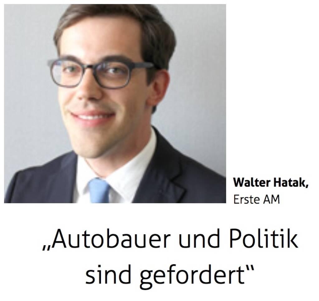 Autobauer und Politik sind gefordert - Walter Hatak, Erste AM (12.09.2017)