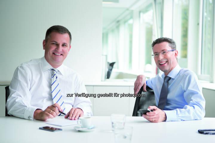 Wiener Privatbank Vorstände Eduard Berger und Dr. Helmut Hardt - Wiener Privatbank SE: Wiener Privatbank SE steigert Halbjahresergebnis 2017 auf EUR 3,50 Mio. (Fotocredit: Wiener Privatbank SE)