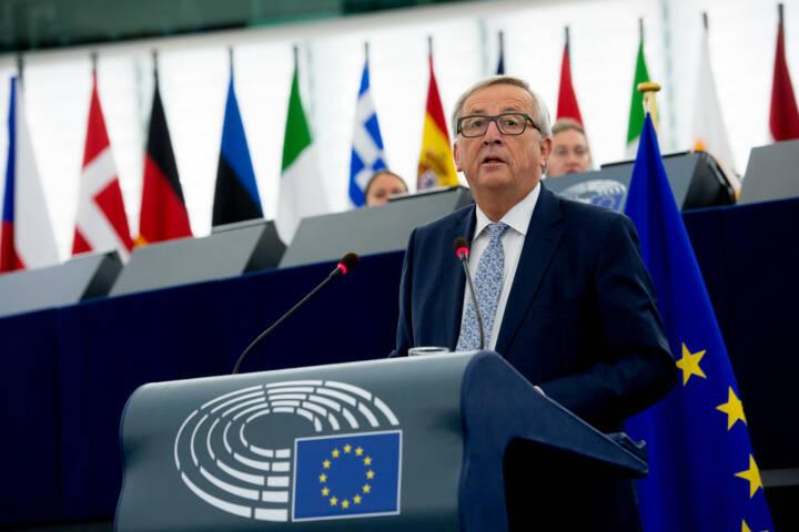 Vertretung der EU-Kommission in Österreich: Neue EU-Behörde für Arbeitnehmerrechte angekündigt, Kommissionspräsident Jean-Claude Juncker im Europäischen Parlament in Straßburg; Foto: EU/Etienne Ansotte