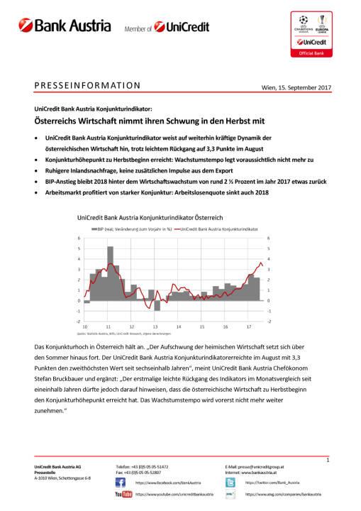 Österreichs Wirtschaft nimmt ihren Schwung in den Herbst mit, Seite 1/4, komplettes Dokument unter http://boerse-social.com/static/uploads/file_2339_osterreichs_wirtschaft_nimmt_ihren_schwung_in_den_herbst_mit.pdf
