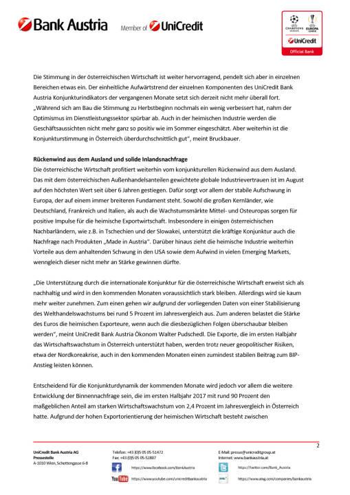 Österreichs Wirtschaft nimmt ihren Schwung in den Herbst mit, Seite 2/4, komplettes Dokument unter http://boerse-social.com/static/uploads/file_2339_osterreichs_wirtschaft_nimmt_ihren_schwung_in_den_herbst_mit.pdf