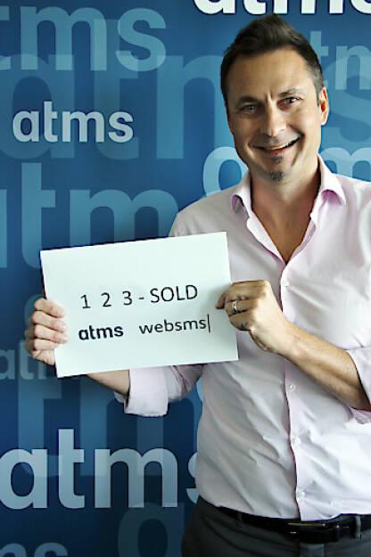 BK Invest GmbH kauft atms-Gruppe: Markus Buchner, Geschäftsführer atms GmbH, nach dem erfolgten Closing; Fotocredit: atms, © Aussendung (19.09.2017)