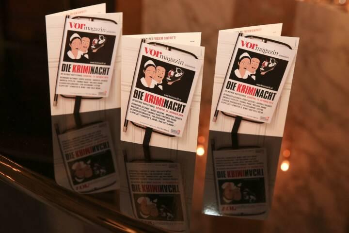13. Kriminacht im Wiener Kaffeehaus am 17. Oktober 2017: An die 40 Krimiautoren lesen in ebenso vielen Locations; Fotocredit: © echo medienhaus/Katharina Schiffl