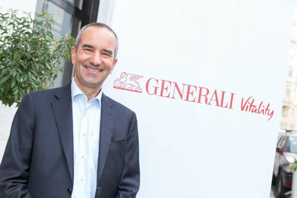 Alfred Leu, Chief Executive Officer der Generali Versicherung AG, startet mit Generali Vitality in Österreich; Fotocredit: Generali/Martina Draper, © Aussendung (26.09.2017)