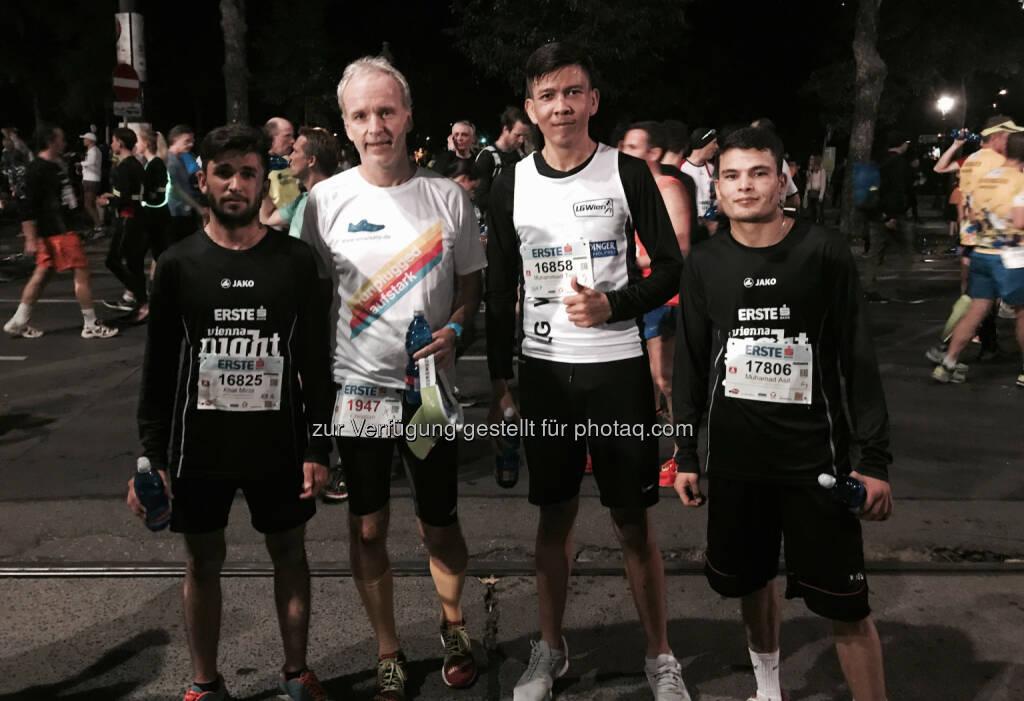 Mit dem Team vom Haus Roshan, ebenso LG Wien Nahe (27.09.2017)