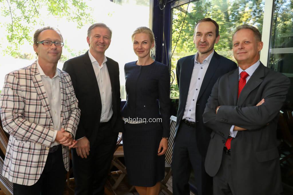 4-your-biz Impact-Investing Konferenz: Andreas Willenbacher (Willenbacher Advisory GmbH), Albert Reiter, Anete Öiepina (e-fund research), Horst Kuch (Uniqa), Christian Huber (Uniqa) (Fotocredit: Katharina Schiffl for photaq.com) (29.09.2017)