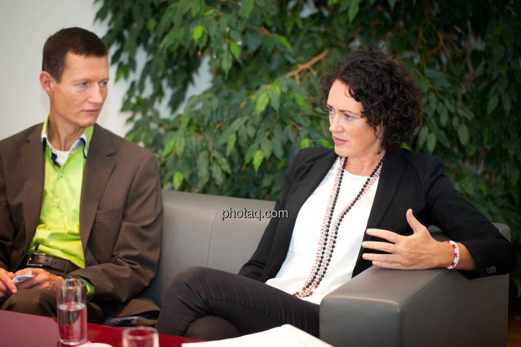 Florian Vanek (Wiener Börse) - Susanne Lederer-Pabst (4-your-biz.com) - (Fotocredit: Michaela Mejta für photaq.com), © Michaela Mejta für photaq.com (02.10.2017)