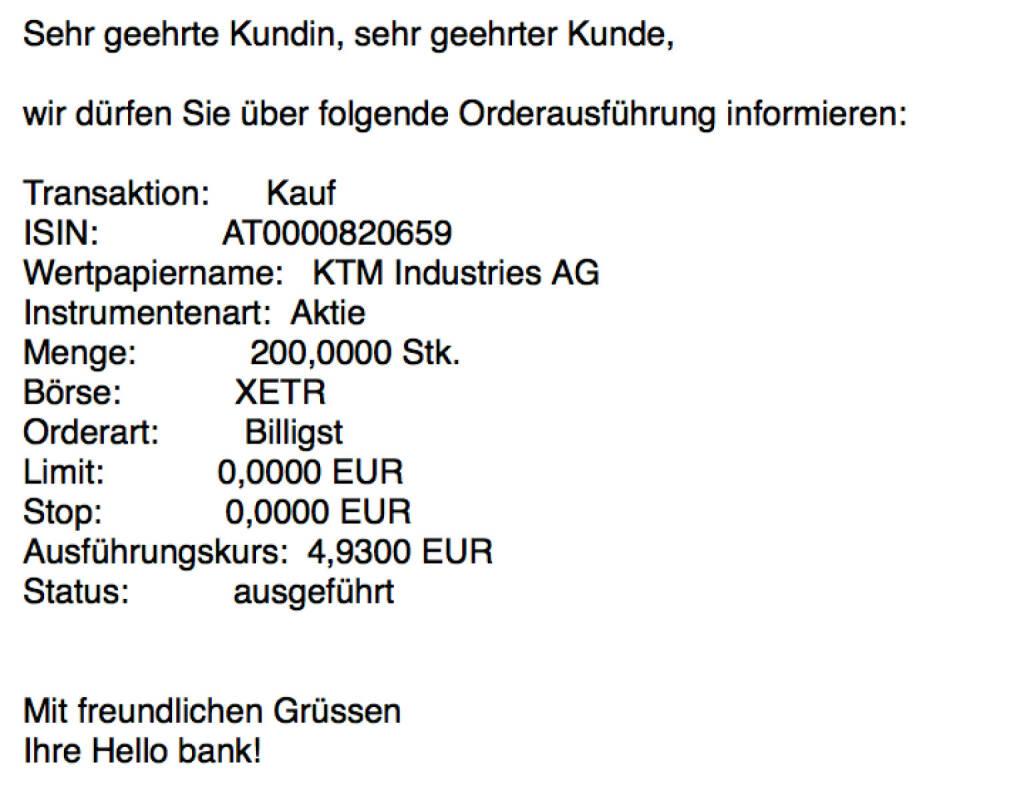 Kauf KTM für #100100hello #goboersewien (02.10.2017)