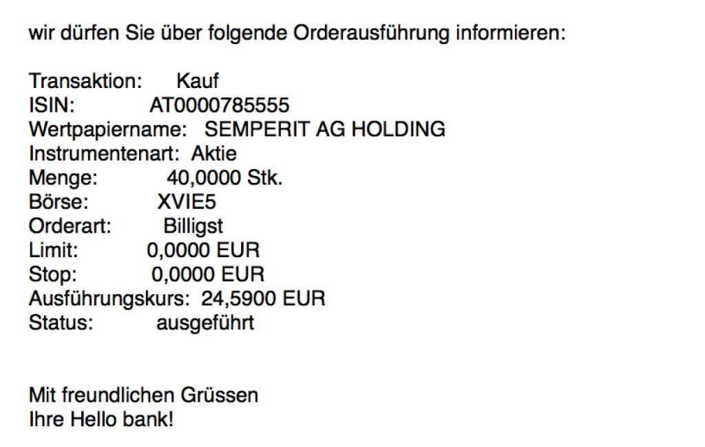 Kauf Semperit für #100100hello #goboersewien (09.10.2017)