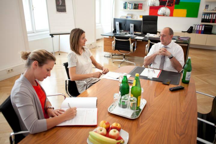 Ludwig Nießen (Wiener Börse), Christine Petzwinkler (BSM), Maria Zorn (Wiener Börse), Foto: Michaela Mejta