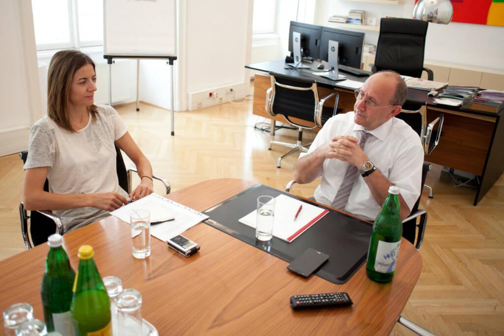 Ludwig Nießen (Wiener Börse), Christine Petzwinkler (BSM), Foto: Michaela Mejta (10.10.2017)