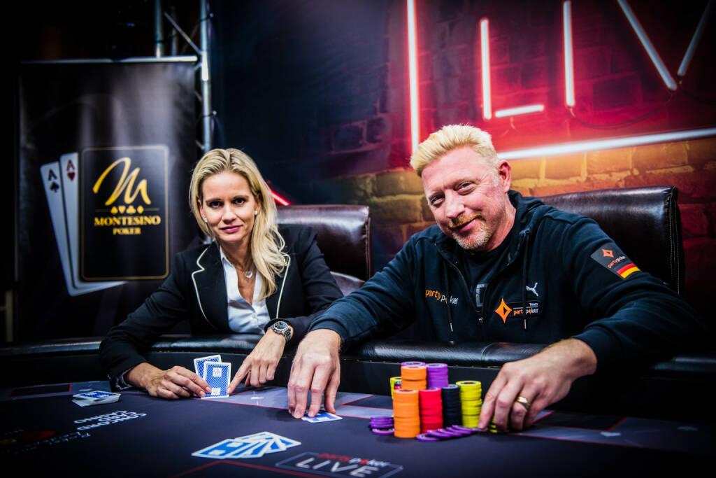 Boris Becker und Fedor Holz pokern im Montesino Wien; Fotocredit: Concord Card Casino (11.10.2017)