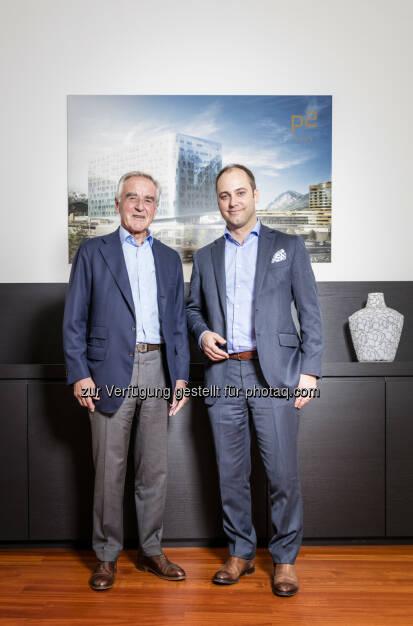 Markus Schafferer, Pema und Herbert Koch, Kika Leiner - PEMA Immobilien GmbH: Familie Koch beteiligt sich mit 49 Prozent an der PEMA (Fotograf: Wolfgang Wolak / Fotocredit: PEMA), © Aussender (13.10.2017)