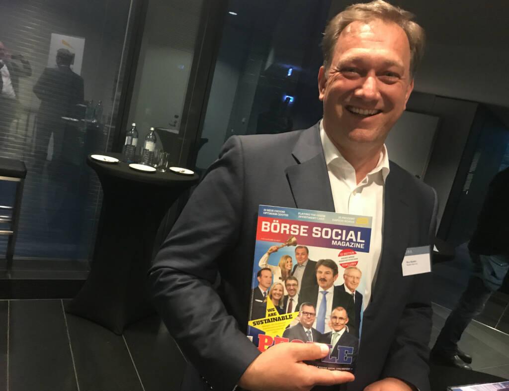 Nico Baader , er war in Ausgabe #5 des http://www.boerse-social.com/magazine auf dem Cover (18.10.2017)