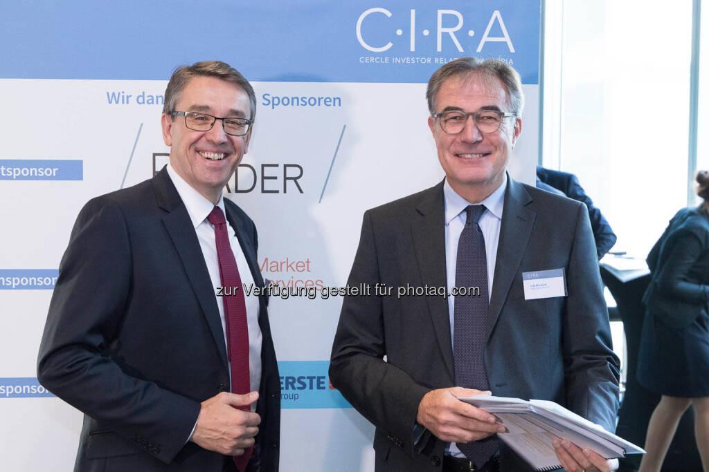 Harald Hagenauer, Friedrich Mostböck, © C.I.R.A./APA-Fotoservice/Martin Lusser (18.10.2017)