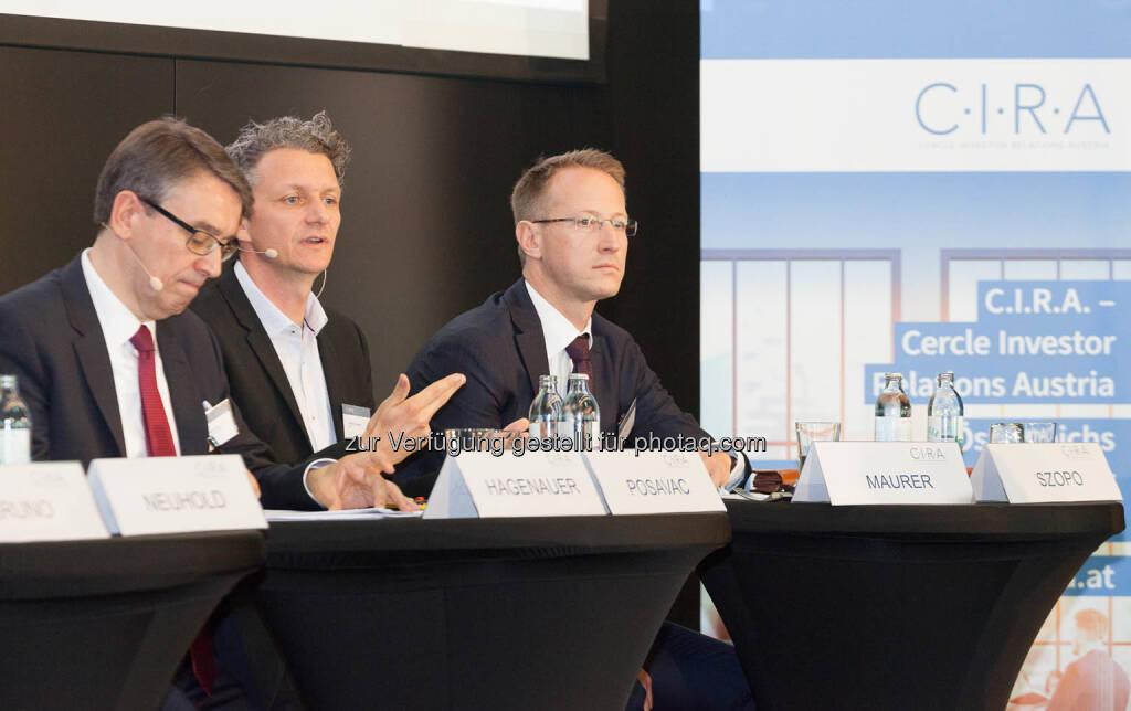 Harald Hagenauer, Andreas Posavac, Bernd Maurer, © C.I.R.A./APA-Fotoservice/Martin Lusser (18.10.2017)