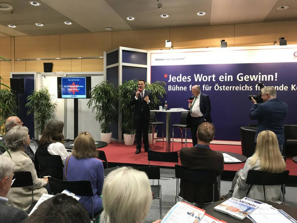 Opening guest at GEWINN-Messe today, Austrias largest retail investor event. Reviewing my first year at Wiener Börse AG which was very eventful: Strong market development & turnover,  one of the biggest Austrian IPOs approaching and global market segment established. (19.10.2017)
