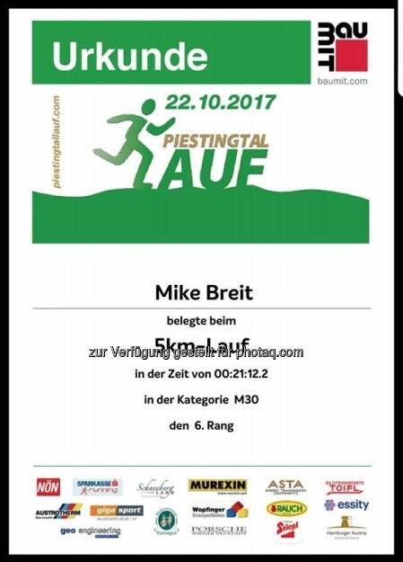 5 Km Piestingtallaufes (23.10.2017)