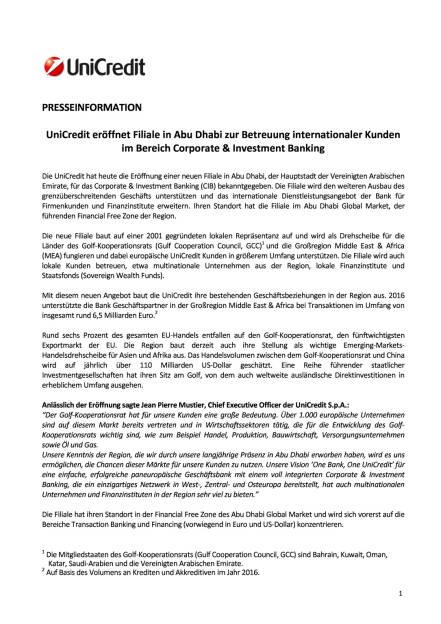 UniCredit eröffnet Filiale in Abu Dhabi, Seite 1/2, komplettes Dokument unter http://boerse-social.com/static/uploads/file_2372_unicredit_eroffnet_filiale_in_abu_dhabi.pdf (23.10.2017)