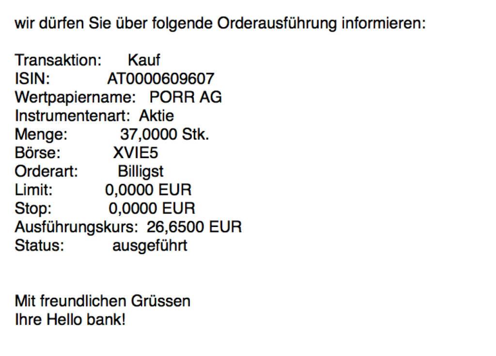 Kauf Porr für #100100hello #goboersewien (27.10.2017)