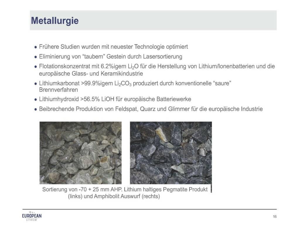 Präsentation European Lithium - Metallurgie (07.11.2017)