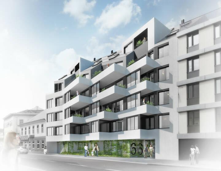 Bereits ein Jahr vor Fertigstellung ist die zweite Baustufe des Projekts wohn:park:zwölf in der Arndtstraße in Wien-Meidling vollständig verwertet und alle 38 Einheiten sind verkauft. Damit wächst der wohn:park:zwölf auf insgesamt 184 Wohnungen, die erste Baustufe des wohn:park:zwölf mit 146 Wohnungen wurde bereits im Juni 2016 fertiggestellt; auch diese waren bereits bei Fertigstellung vollständig verkauft. Copyright: Consulting Company