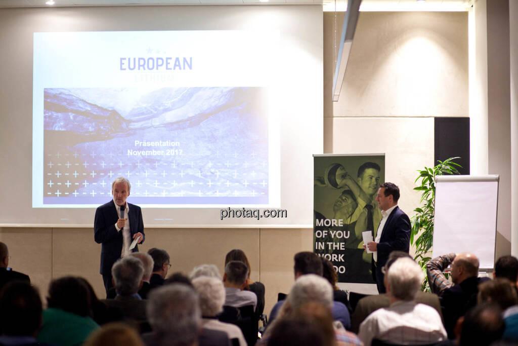 Christan Drastil (Börse Social Network) und Stefan Müller (European Lithium) - (Fotocredit: Michaela Mejta for photaq.com), © Michaela Mejta (08.11.2017)