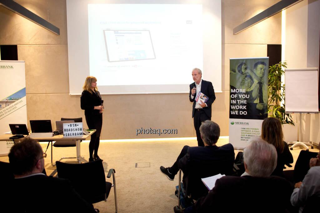 Elke Koch, Director IR & PR AT&S - Chrisitan Drastil, Börse Social Network (Fotocredit: Michaela Mejta for photaq.com), © Michaela Mejta (08.11.2017)