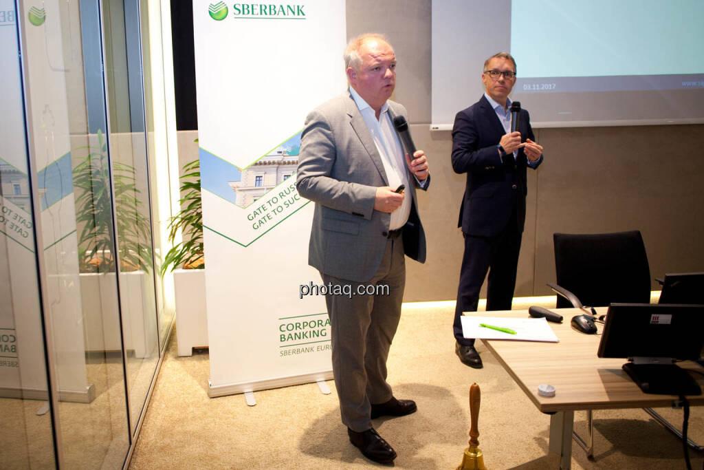 Lukas Stipkovich (Fondsmanagement, Sigma Investment), Alfred Reisenberger (Research, Sigma Investment) - (Fotocredit: Michaela Mejta for photaq.com), © Michaela Mejta (08.11.2017)