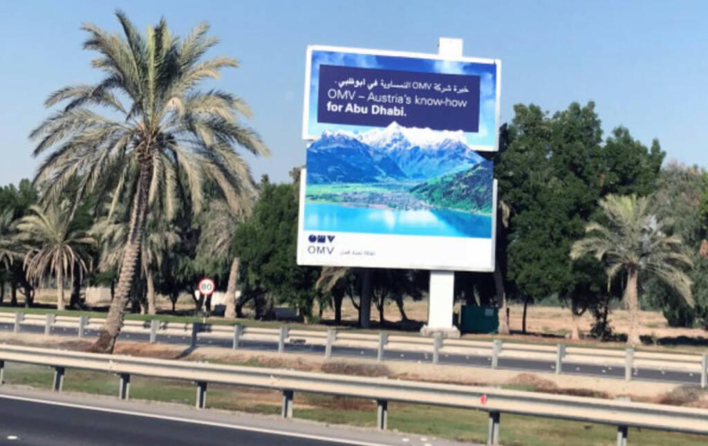 OMV setzt internationale Werbemaßnahmen - Abu Dhabi (09.11.2017)