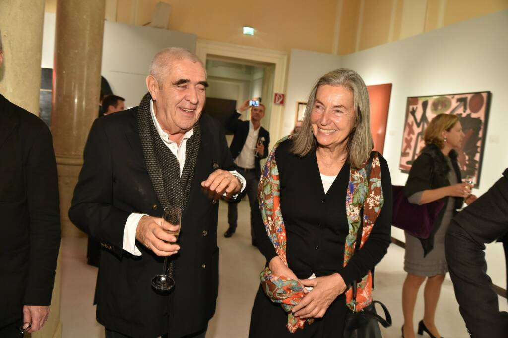 Kulturexperte Peter Noever, Fotografin Elfie Semotan, © leisure.at/Christian Jobst (14.11.2017)