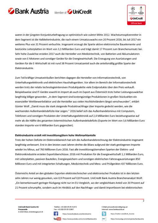 Österreichs Elektroindustrie wächst 2017 weiter kräftig, Seite 2/3, komplettes Dokument unter http://boerse-social.com/static/uploads/file_2391_osterreichs_elektroindustrie_wachst_2017_weiter_kraftig.pdf