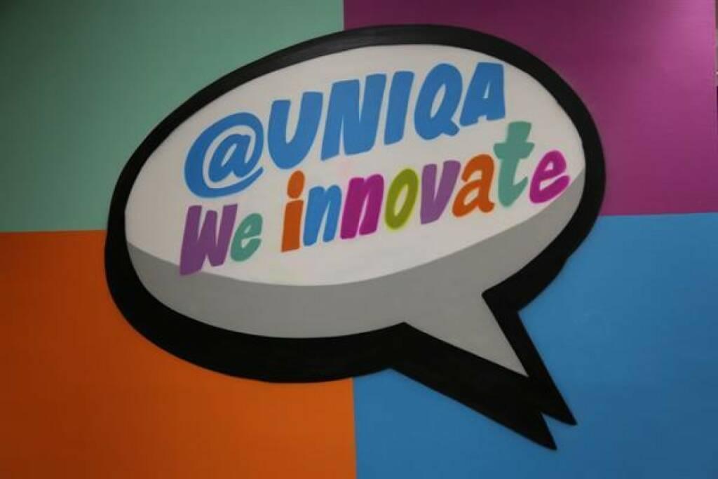 """Das UNIQA Innovation Lab bei weXelerate eröffnet im Design Tower und wird ein inspirierender Treffpunkt für UNIQA Mitarbeiter, andere etablierte Unternehmen, Forschung und Start-ups. """"Wir lernen von Start-ups und Start-ups lernen von uns"""", bringt es Andreas Nemeth vom UNIQA Group Innovation Team auf eine einfache Formel. Fotorechte: © UNIQA, © Aussender (14.11.2017)"""