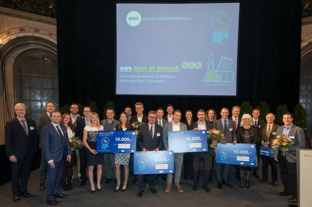 aws Best of Biotech: Auszeichnung der besten Life Science-Businesspläne; Fotocredit: aws / vogus, © Aussendung (23.11.2017)