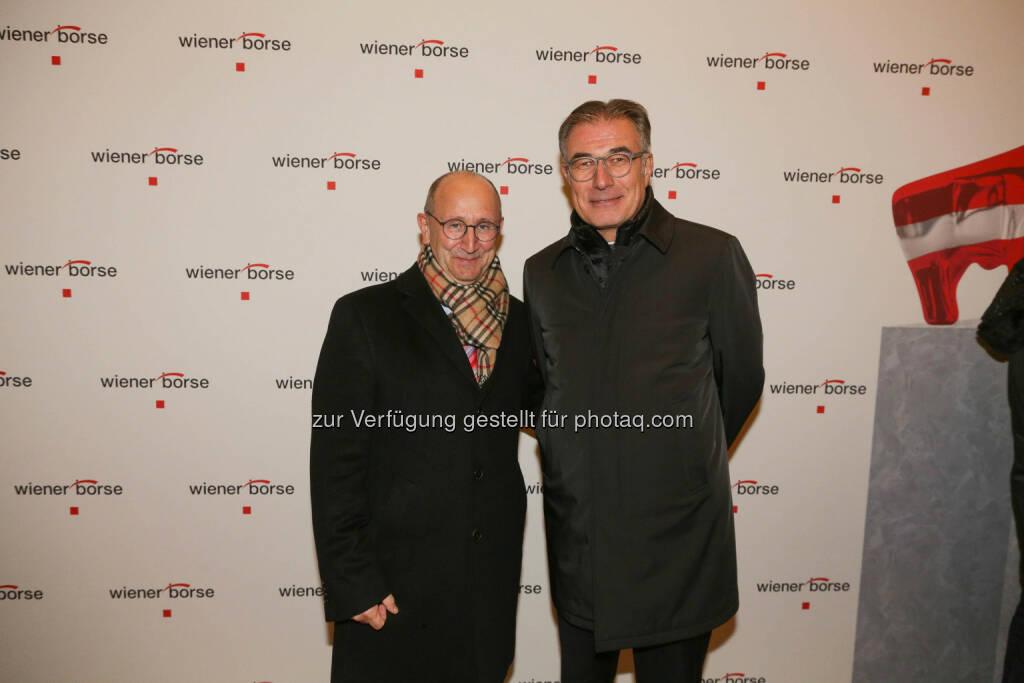 Ludwig Nießen, Friedrich Mostböck, © Wiener Börse/APA-Fotoservice (01.12.2017)