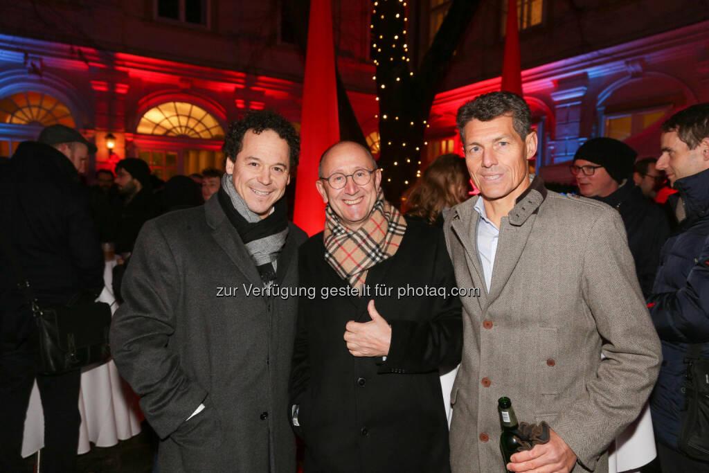 Rainer Schönfelder, Ludwig Nießen, Hannes Voit, © Wiener Börse/APA-Fotoservice (01.12.2017)